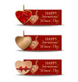 colorful festive banners set for international vector image