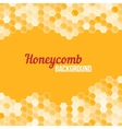 Orange honeycomb background vector image