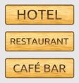 Hotelski znaci resize vector image vector image