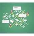 Isometric city map design elements vector image