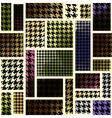 houndtooth geometric pattern vector image