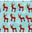 deer and horse Set of funny animals seamless vector image