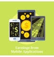Earning from Mobile Applications vector image