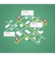 Isometric city map design elements vector image