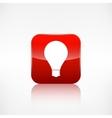 Light bulb icon Application button vector image