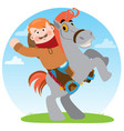 man on a horse cowboy rodeo wild west vector image