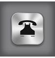 Phone icon - metal app button vector image