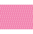 Seamless love pattern White hearts and waves vector image