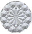 white 3d geometric texture background vector image