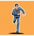Pop Art Running Hurry Meeting Businessman vector image