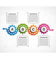 Abstract gears infographic Design element vector image