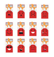 pack of cigarettes creative cartoon style smiles vector image