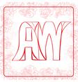 AW monogram vector image