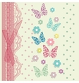 Vintage floral card background vector image vector image