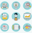 Set of data analytics icons for business - part 2 vector image