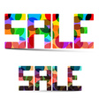 Sale Colorful Title vector image