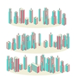 Banners Set of Three Cityscape Background vector image