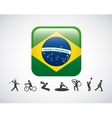 Brazil and the Olympic sports isolated icon design vector image