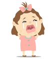 baby girl crying vector image