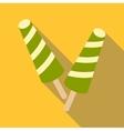 Fruit ice cream icon flat style vector image