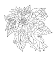 Hand drawn ethnic ornamental patterned floral vector image