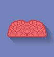 Icon of the brain Flat style vector image