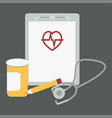 medical stethoscope with paper vector image