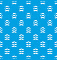 moustaches pattern seamless blue vector image