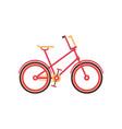 red vintage bike modern bicycle vector image