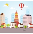 Seamless Sunny Town Landscape Background vector image