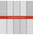 10 memphis patterns set on vector image