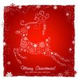 Ornate decorative Christmas deer card vector image vector image