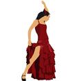 al 0303 flamenco dancer vector image vector image