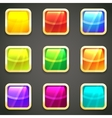 Set of vibrant bright glossy web buttons vector image vector image