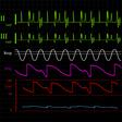 physiologic monitor background vector image