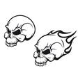 skulls tattoo vector image vector image