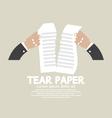 Hands Tears Paper vector image