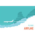 Aircraft and sky background vector image vector image