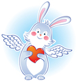 Darling rabbit with wings vector image