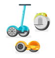 flat style set of battery-powered electric vector image