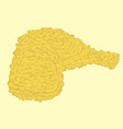 fried chicken vector image