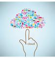 Hand clicking social icon Concept EPS10 vector image