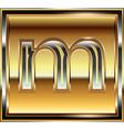 Ingot Font Letter m vector image