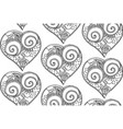 seamless pattern from hand drawing heart vector image