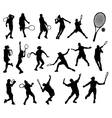 tennis player 5 vector image