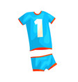 volleyball uniform for man or woman in flat style vector image