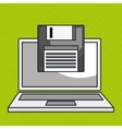 laptop computer data icon vector image
