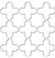Seamless pattern of plastic grating background 3d vector image