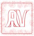 AV monogram vector image vector image