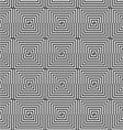 Alternating black and white half squares reflected vector image